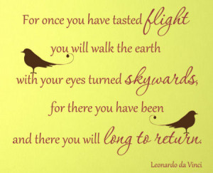 flight quote leonardo da vinci