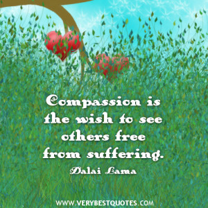 compassion quotes by Dalai Lama, free from suffering quotes