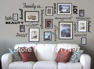 Free Shipping FAMILY IS vinyl wall lettering quote wall art / decor ...
