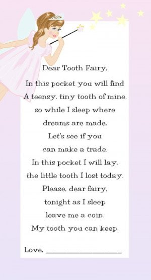 Tooth Fairy Poem-poem, tooth fairy pillow, personalized, toothfairy