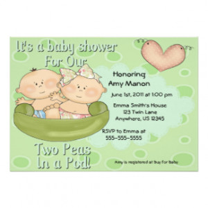 Twin Baby Invitations, 2,800+ Twin Baby Announcements & Invites