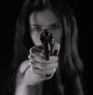 Happiness is a Warm Gun. In a Woman's Hands.
