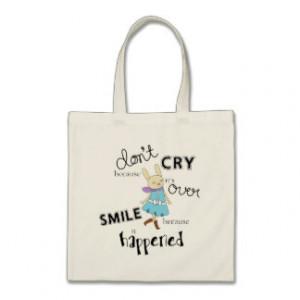 Kawaii Adorable Bunny Cartoon Inspirational Quote Tote Bag