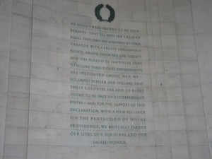 Jefferson Memorial Photo: Jefferson Memorial - quotes carved on wall