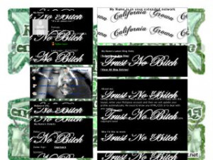 Weed Quotes - Cali Love MySpace Layout Preview