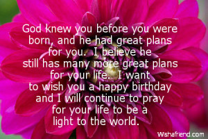 Religious Birthday Quotes