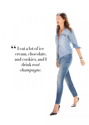 eat a lot of ice cream, chocolate, and cookies, and I drink rosé ...