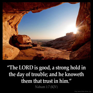 Nahum 1:7 Inspirational Image