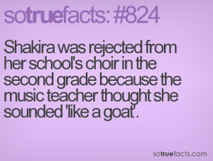 ... choir in the second grade because the music teacher thought she