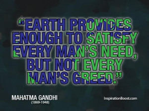 Earth quotes mahatma gandhi