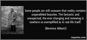 More Berenice Abbott Quotes