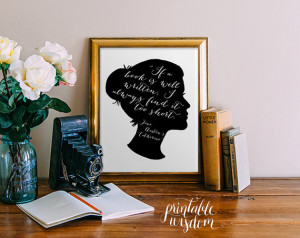 Jane Austen printable quote wall art wall decor print inspirational ...