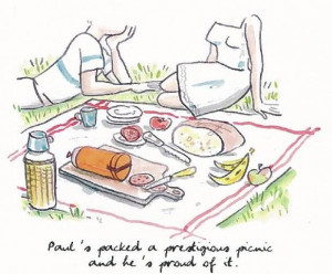 Pucciola illustrations.... Life's a picnic! Drawing by Alice Charbin ...