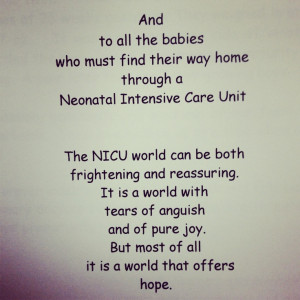 quote I found in a NICU journal at Valley Medical Center.. For all ...