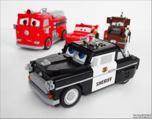Sheriff Police Car From Pixar Quot Cars Lego Creation Henning