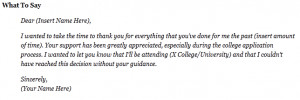 Thank You Notes You should Write After Your Addmission in College