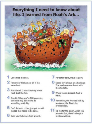 to know about life i learned from noah s ark