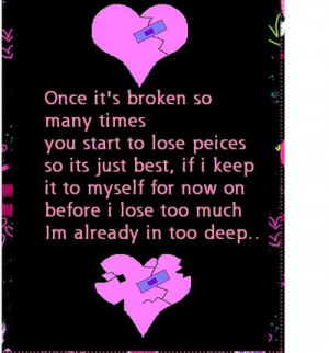 Once It's Broken So Many Times You Start To Lose Peices So Its Just ...