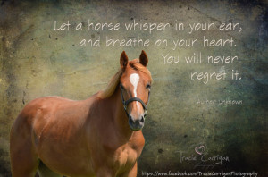 Inspirational Horse Quote on original print – Electra