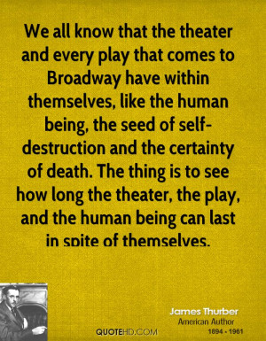 within themselves, like the human being, the seed of self-destruction ...