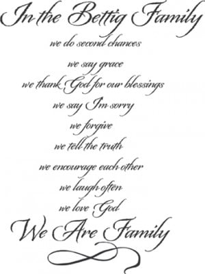 In The Family We Are Family | Wall Decals