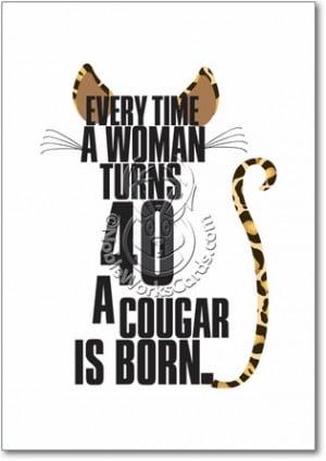 Cougar Unique Humorous Birthday Paper Card Nobleworks
