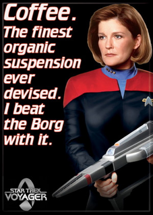 Star Trek Voyager Janeway Coffee Qoute Image Refrigerator Magnet, NEW ...