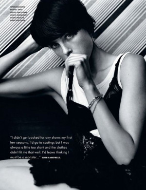 Quote of the day from Edie Campbell on her disappointing first few ...