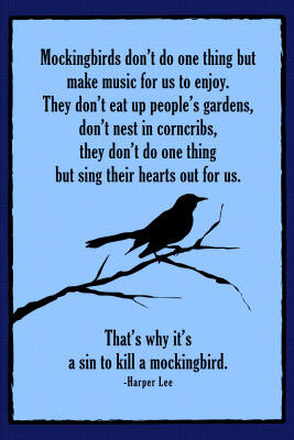 To Kill A Mockingbird Famous Quote Print Poster 13x19