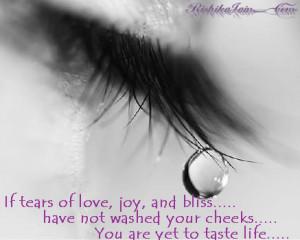 Tears of Joy…. Experience for Life…