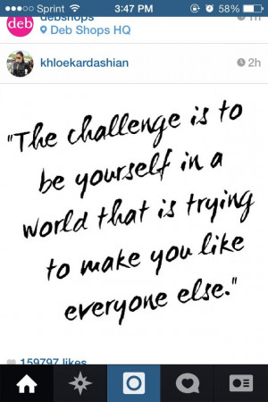 Khloe kardashian Instagram quote