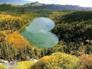 beautiful, heart, lake, landscape, love, mountains, trees