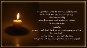 selfishness quotes, sacrifice quotes, Buddhist sayings