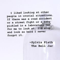 The Bell Jar Quotes ~sylvia plath, the bell jar