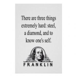 Benjamin Franklin Quote Posters & Prints