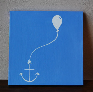 Canvas Painting of Anchor & Balloon