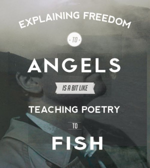 ... teaching poetry to fish.
