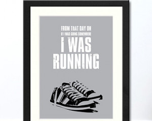 Running Quote Typographic Print | A vailable Framed or Unframed ...