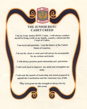 Jrotc Creed | Army JROTC Creed ... I love ROTC in high school thought ...