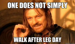 Yesterdays Workout: LEGS