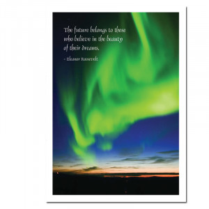 New Years Card Aurora Verde Eleanor Roosevelt Quote