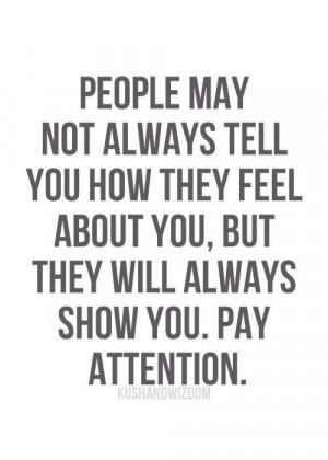 Actions speak loudly