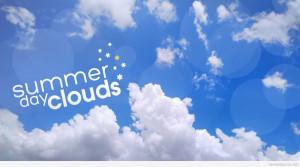 Summer day clouds wallpaper