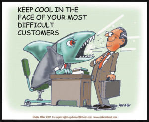 Handling difficult customers and situations.....