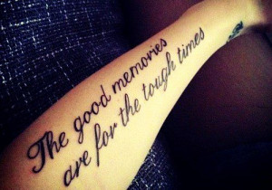 unique tattoo on arm , best quotes tattoo for men and women