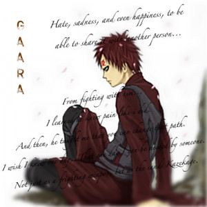 Gaara Quotes Gaara quote by ambberrxd