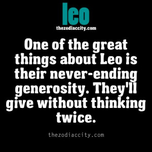 Great thing about Leo.