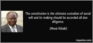 The constitution is the ultimate custodian of social will and its ...