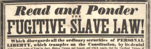 Detail from an anti-Fugitive Slave Law broadside, published in Boston ...