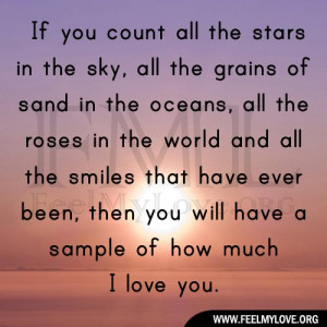 if you count all the stars in the sky